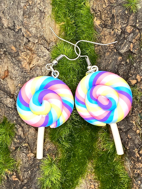 Cotton Candy Lollipops