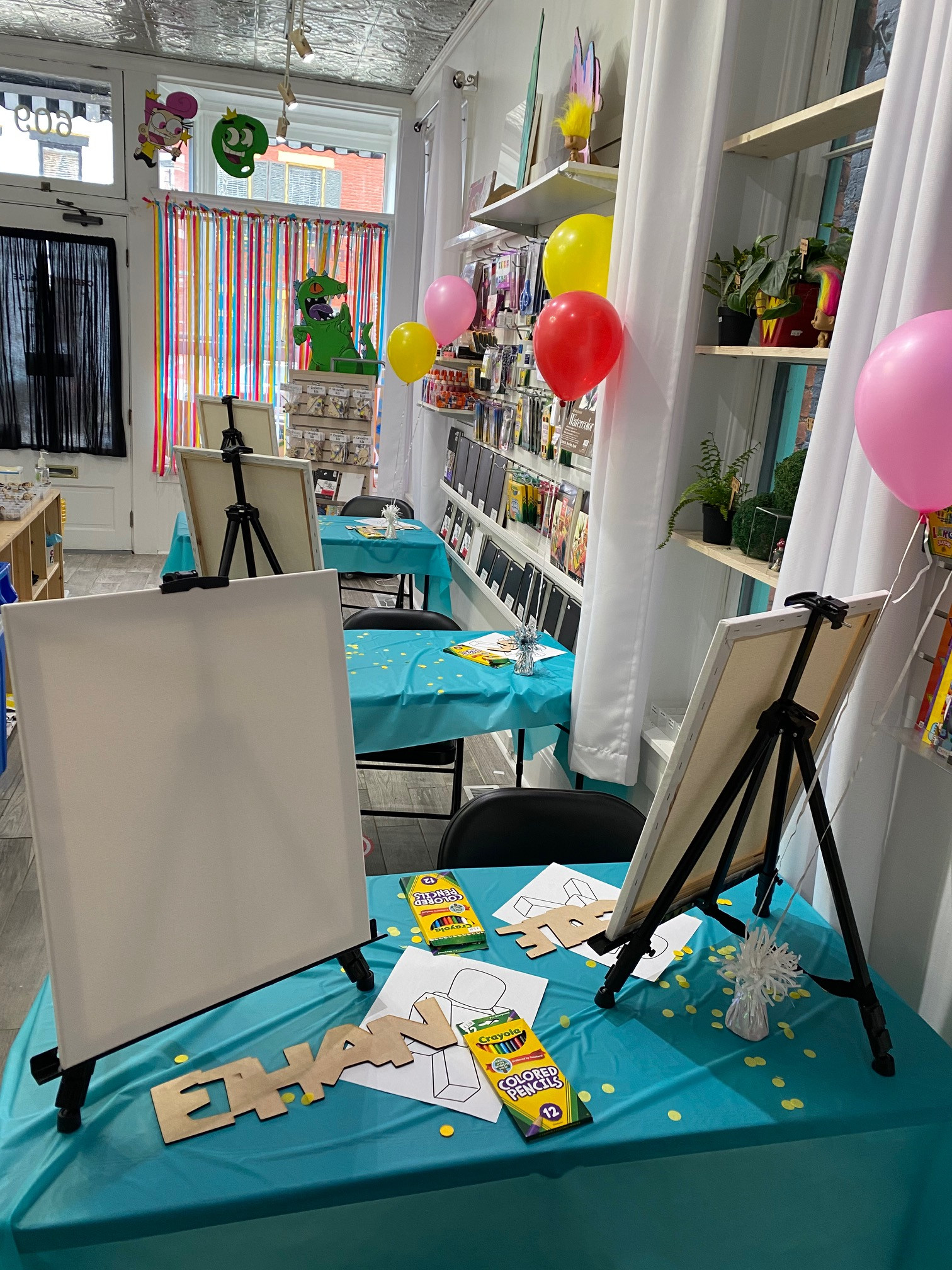 Art Birthday Party  for 6