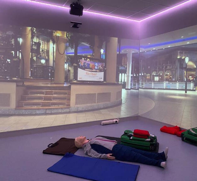 We specialise in simulation training. This includes 270 degree projection, sound and even smell to heighten the realism of the scenario.