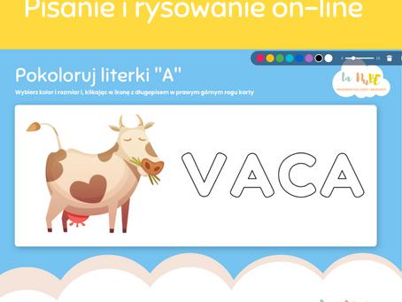 Pisanie i rysowanie on-line dla 5 i 6 latków