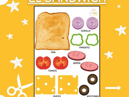 """""""El sándwich"""" hoja imprimible"""