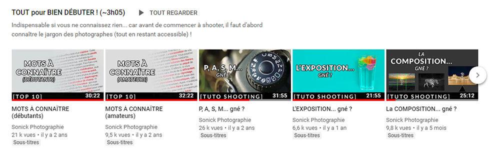 Capture d'écran chaîne YouTube