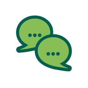 Pair of Speech Bubbles Icon