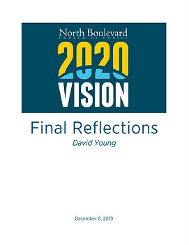 2020 Vision Final Reflections