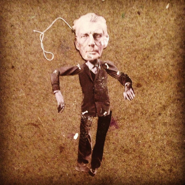 the samuel beckett puppet