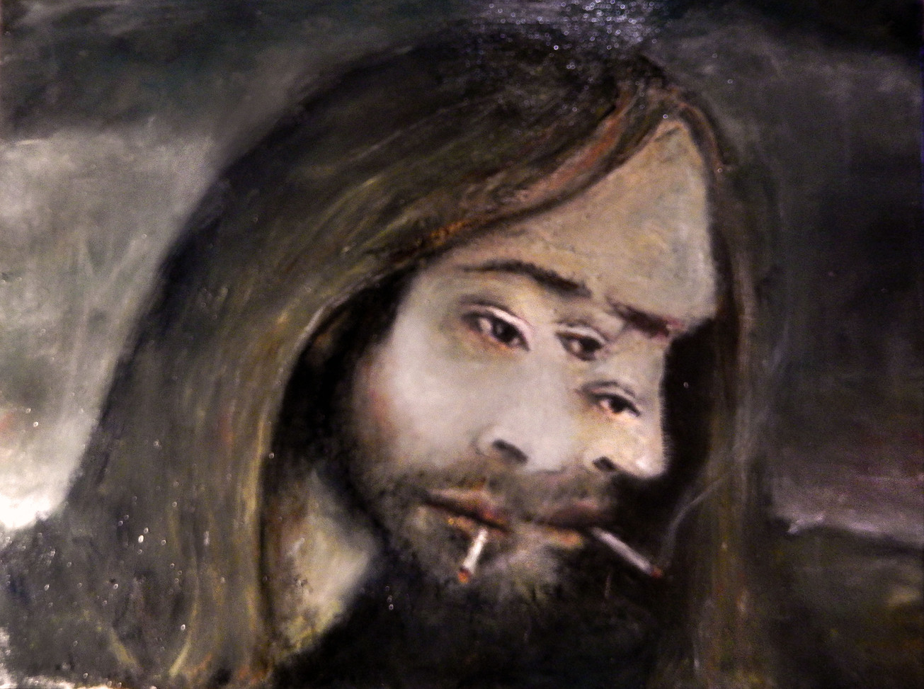 self portrait with two smokes