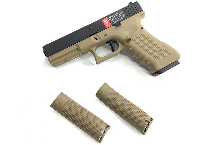 WE G17 Gen4 Tan Airsoft GBB Pistol