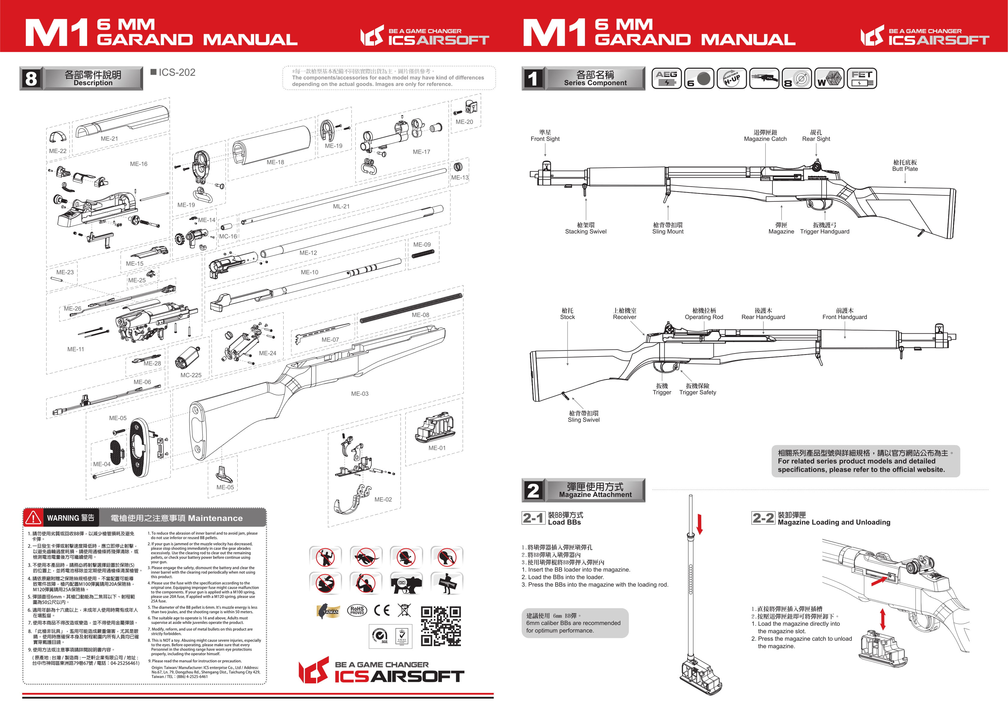 ICS M1 Garand Instruction Manual   SWIT AIRSOFT M Garand Schematic Diagram on