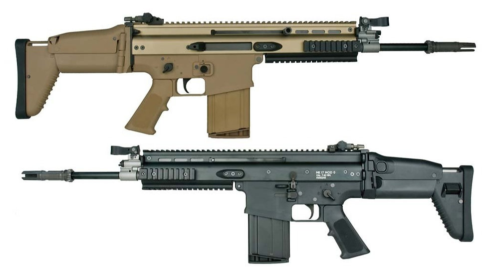Upgraded WE SCAR H AEG Airsoft Rifle