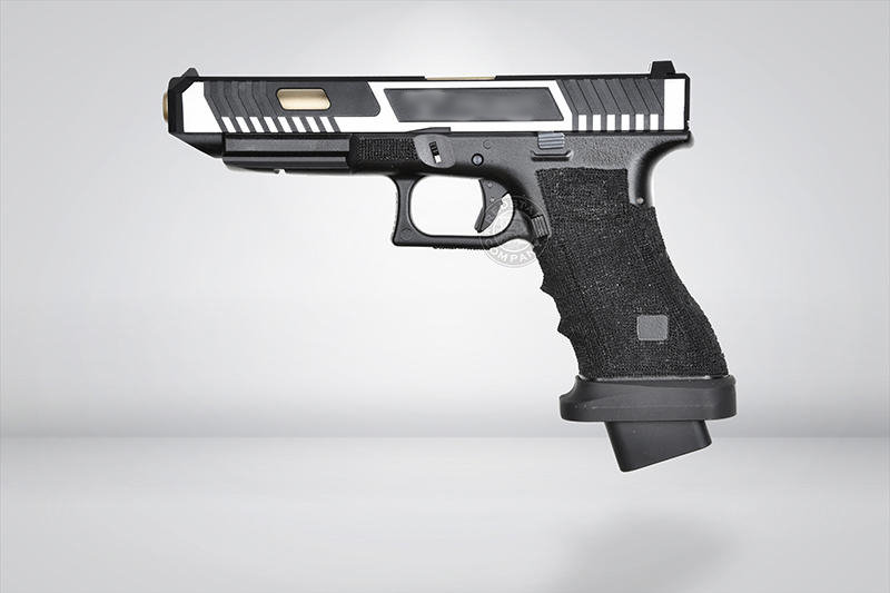 Upgraded Bell G34 CNC Two color pistol (Silver)