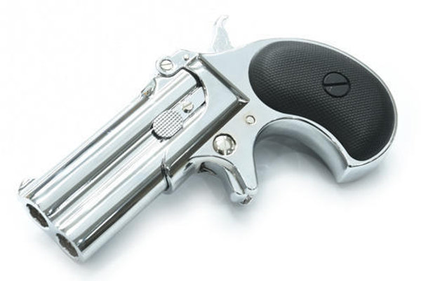 MAXTACT Derringer 6mm Airsoft Pistol (Silver)   SWIT AIRSOFT