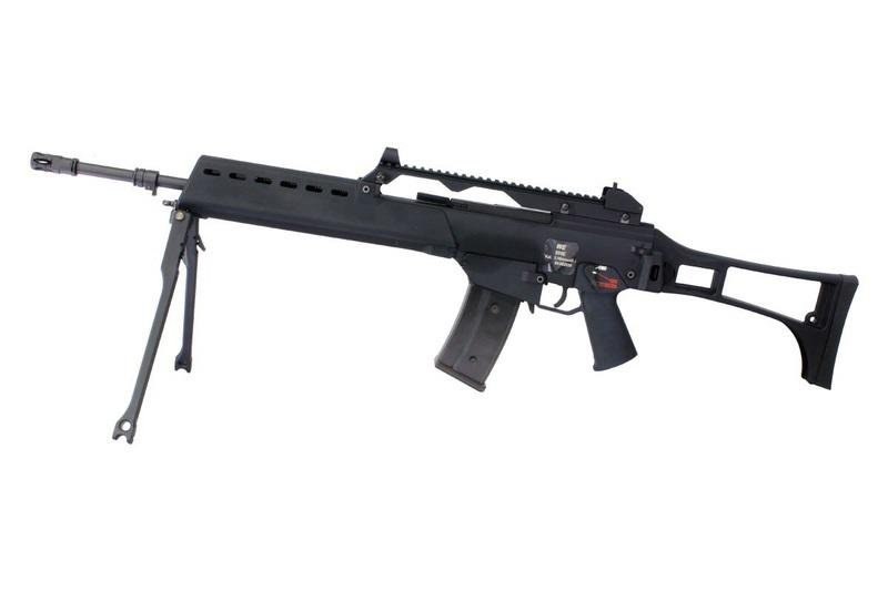 WE G36E GBB Airsoft Rifle + 4 Extra Magazines for Battle Group Centre