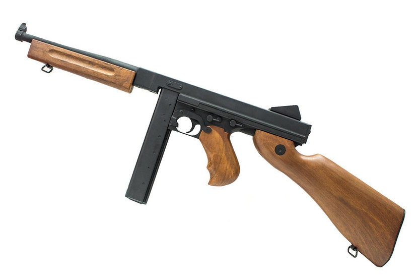Upgraded CYMA M1A1 Thompson AEG Airsoft SMG