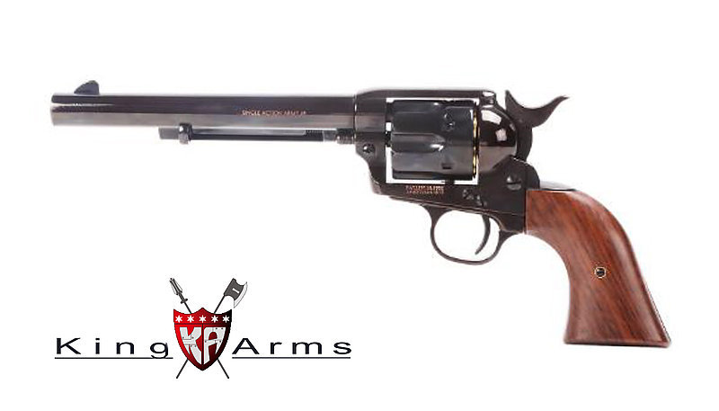 King Arms SAA .45 Airsoft Gas Revolver Long Barrel