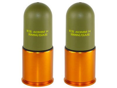 ICS  70 round 40mm Airsoft Gas Grenade Shell (2pc/6pc)