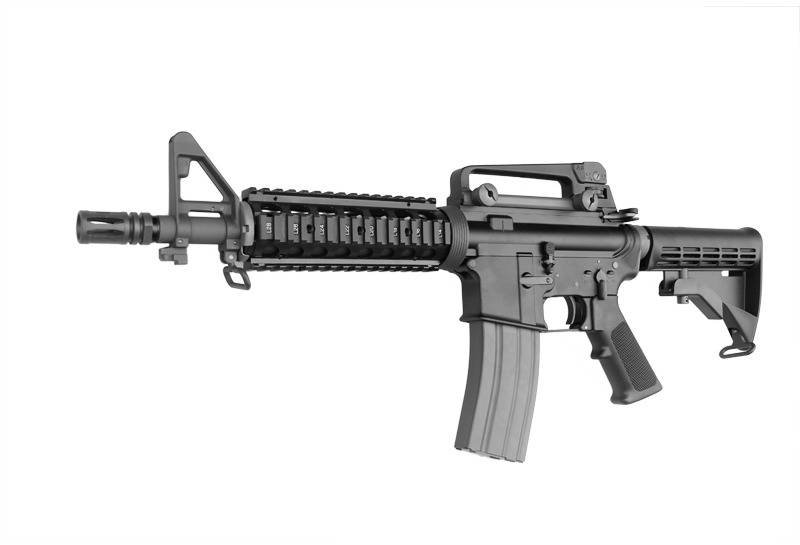 Upgraded WE M4-CQB Airsoft GBB Rifle