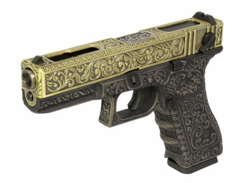 WE G18C Classic Floral Pattern Airsoft GBB Pistol
