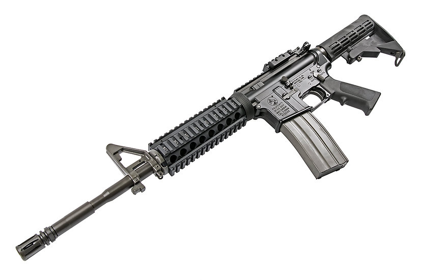 Upgraded GHK M4 RIS V2 GBBR Airsoft Rifle with Licensed Colt Marking