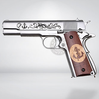 RST Engraved WE-Tech M1911A1 Airsoft GBB Pistol