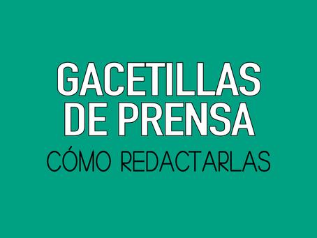 RESPETAR LA ESTRUCTURA DE UNA GACETILLA, AUMENTA LAS PROBABILIDADES DE SER LEÍDA.