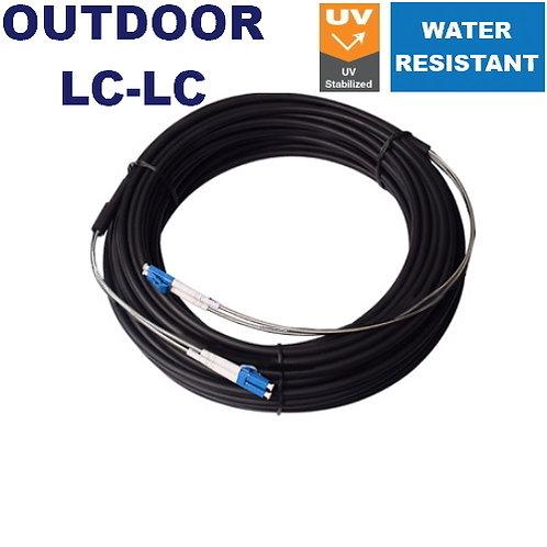 200m LC-LC OUTDOOR Singlemode Fibre Optic Patch Lead (Duplex / Quadruplex)
