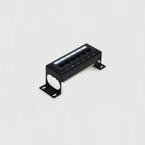 Premium Patch Panel 6 Port Cat.6 - wall mount type