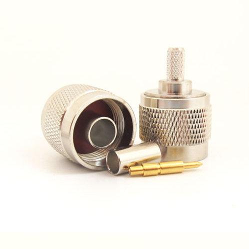 N-Type Crimp Male Plug for RG58 - Premium