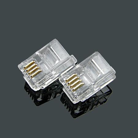 RJ11 4P4C Crimp plug - 1 pack: 10ea