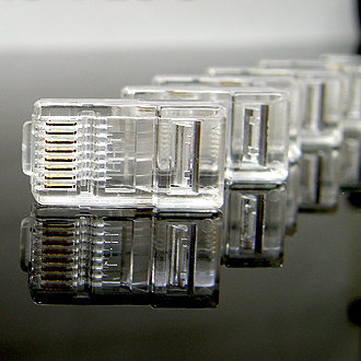 RJ45 Cat.5E Crimp Plug - 1 pack: 10ea