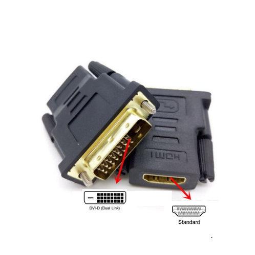 DVI-D (24+1) Male to HDMI Female Adaptor