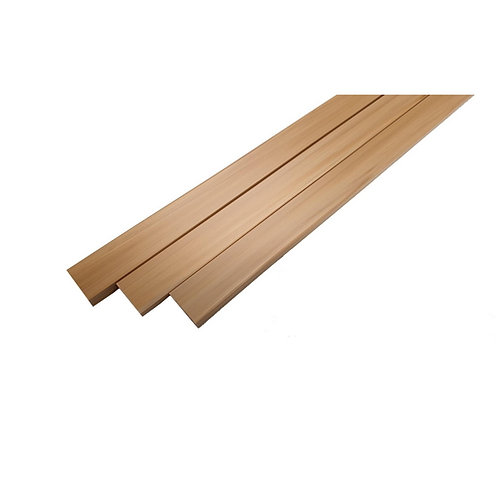 Cable Ducting 15mmx11mm Square shaped - Self Adhesive (White stained oak effect)
