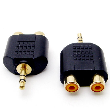 3.5mm Stereo Male to 2 RCA Female Adaptor
