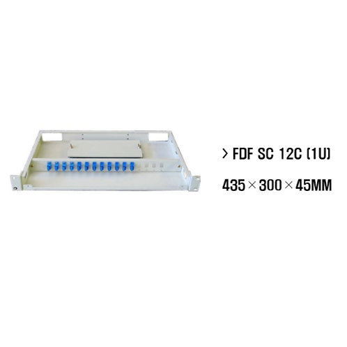 "12 Way Fibre Optic Patch Panel for 19"" rack - 1RU-Sliding Cover / SC Type"