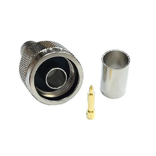 N-Type Crimp Male Plug for RG213 or RG8 - Premium