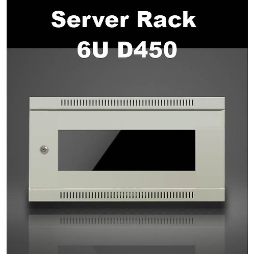 "6RU 19"" D450 Wall Mount Rack Cabinet (Fan included) -Black or Light Grey"