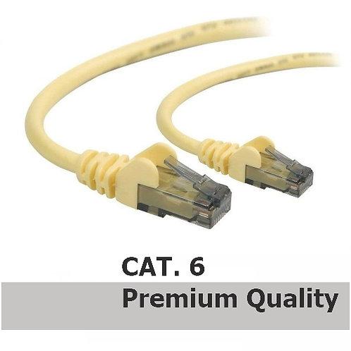 RJ45 - RJ45 Network Patch Lead Cat.6 (2m) Yellow -Premium Quality