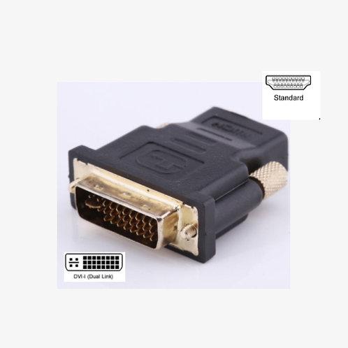 DVI-I (24+5) Male to HDMI Female Adaptor