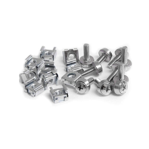 """20Pack M6 Bolts Screws Set with Captive Nuts & Washers for 19"""" Rack Mount"""