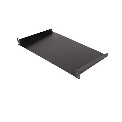 "1RU 19"" Cantilever Shelf 320mm Deep Black"