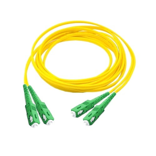 SC/APC-SC/APC Singlemode Fibre Optic Patch Lead (Duplex)