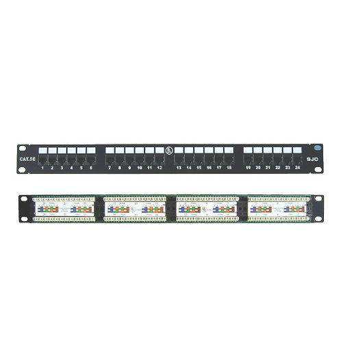 "Premium Patch Panel 24 Port Cat.5E for 19"" rack"