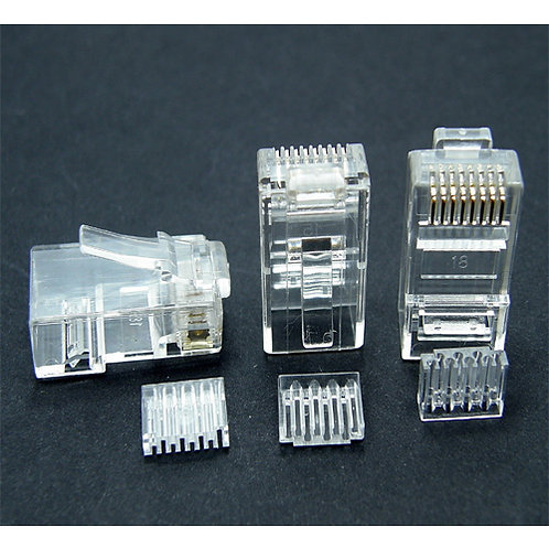 RJ45 Cat.6 Crimp Plug - 1 pack: 10ea