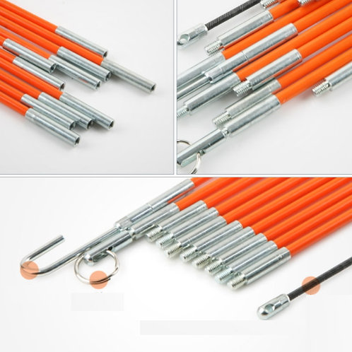 10 x 33cm Cable Rod Puller Kit - inflexible