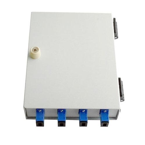 4 Way Wall Mount Fibre Optic Patch Panel - Door Cover / SC Type