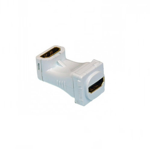 HDMI Right Angle to HDMI Mech Insert White