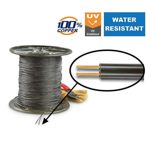 UV stabilized Outdoor Telephone cable 1.0mm Heavy Duty -per metre