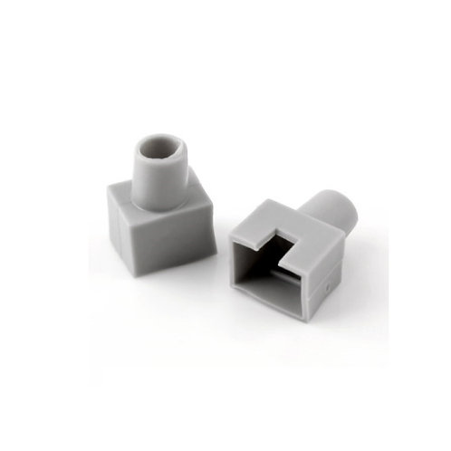 RJ45 Boots Gray (Square-shaped) - 1 pack: 100ea
