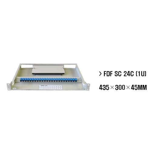 "24 Way Fibre Optic Patch Panel for 19"" rack - 1RU-Sliding Cover / SC Type"