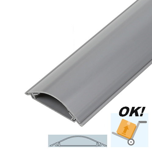 Super-High Strength Floor Cable Ducting 70mm x 15mm x 1m - Self Adhesive (Grey)