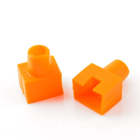 RJ45 Boots Orange (Square-shaped) - 1 pack: 100ea